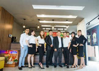 Ảnh quảng cáo thương hiệu trà sữa và Tea MR. Kong